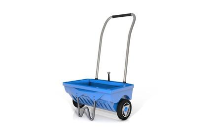 Blauer Streuwagen