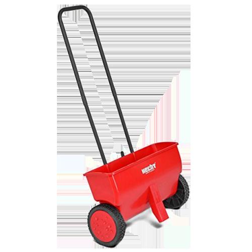Hecht Streuwagen für Dünger und Salz (rot)